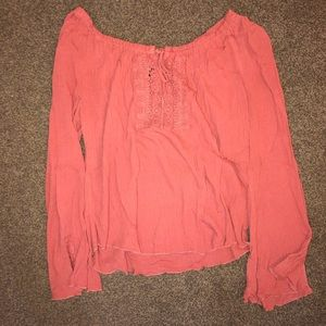 LIVING DOLL burnt orange blouse